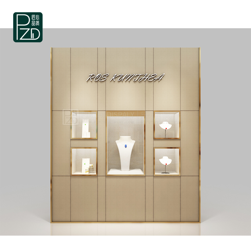 High end wall jewellery cabinet for jewelry mall