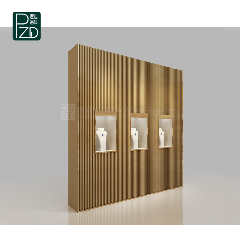 High end commercial jewelry wall showcase