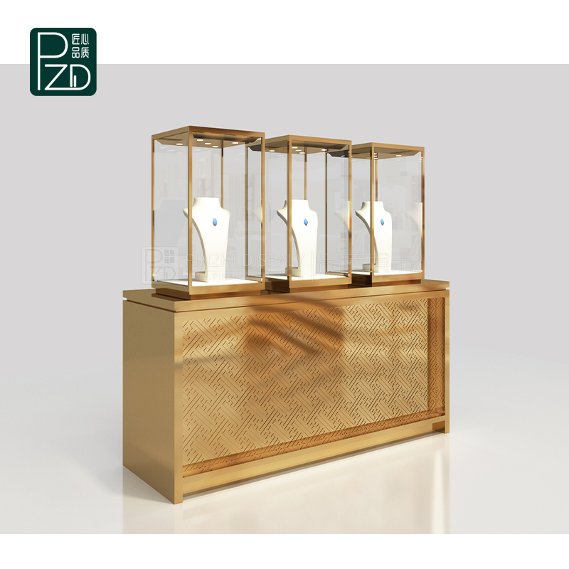 Free standing jewellery window display set for mall