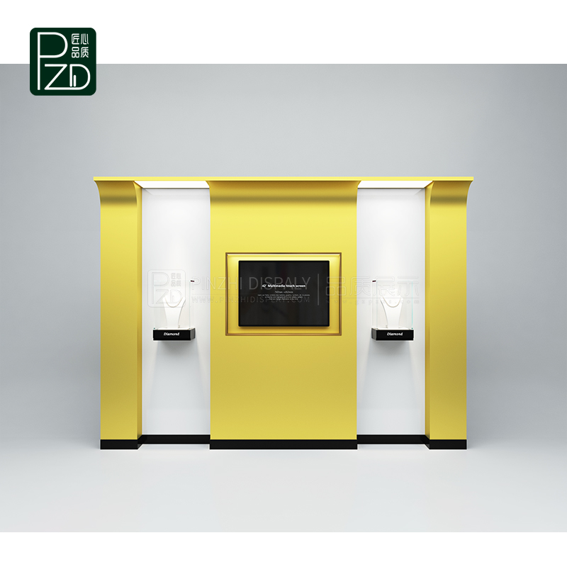 Fashion style wall mounted jewellery cabinet with led light