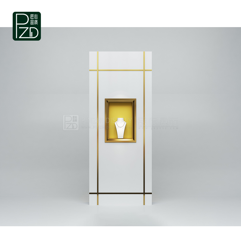 high end white wall mounted jewelry cabinet