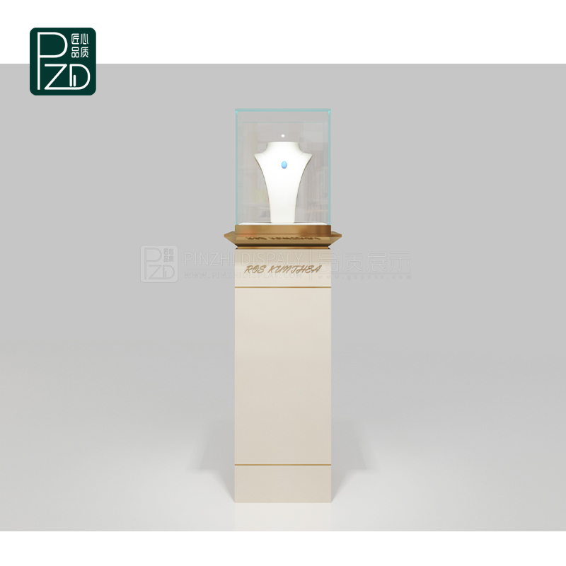 High end fashion jewelry tower display cases