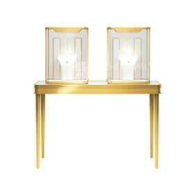 wood and glass jewelry display cases
