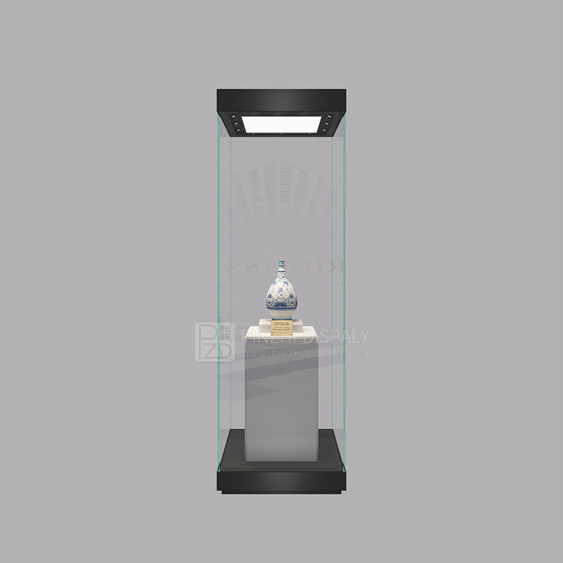 High end quality museum glass display case