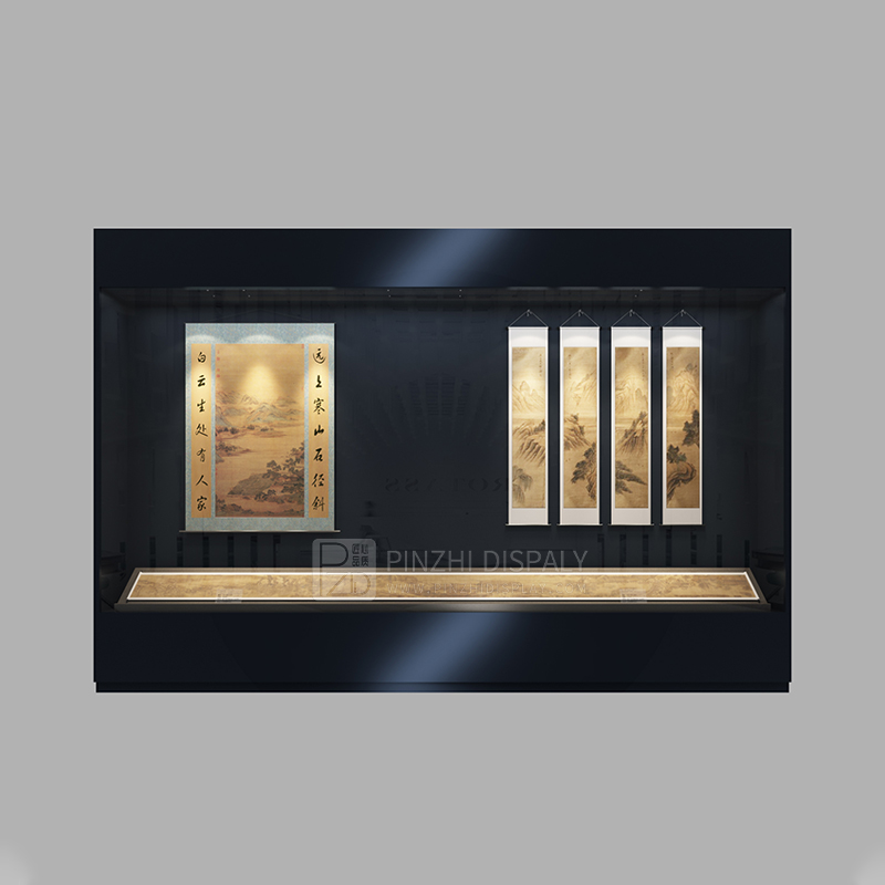 Professional custom wall mounted museum display case