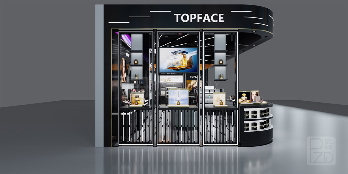 Luxury cosmetic retail shop design project