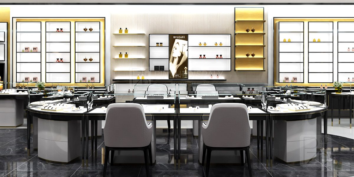 Luxury cosmetic store interior design