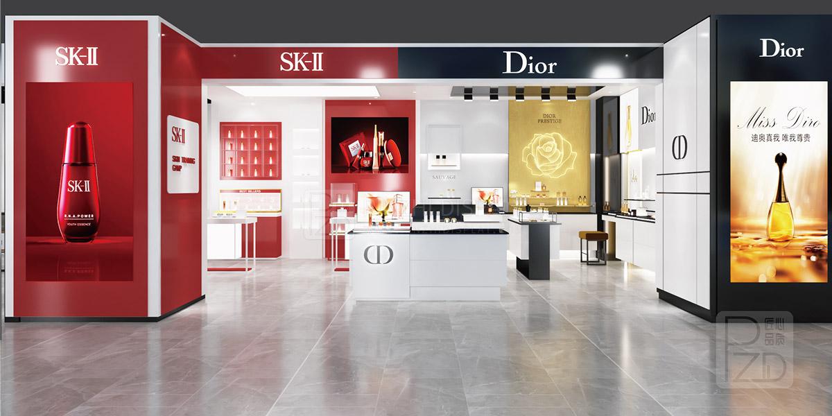 Luxury makeup store interior design