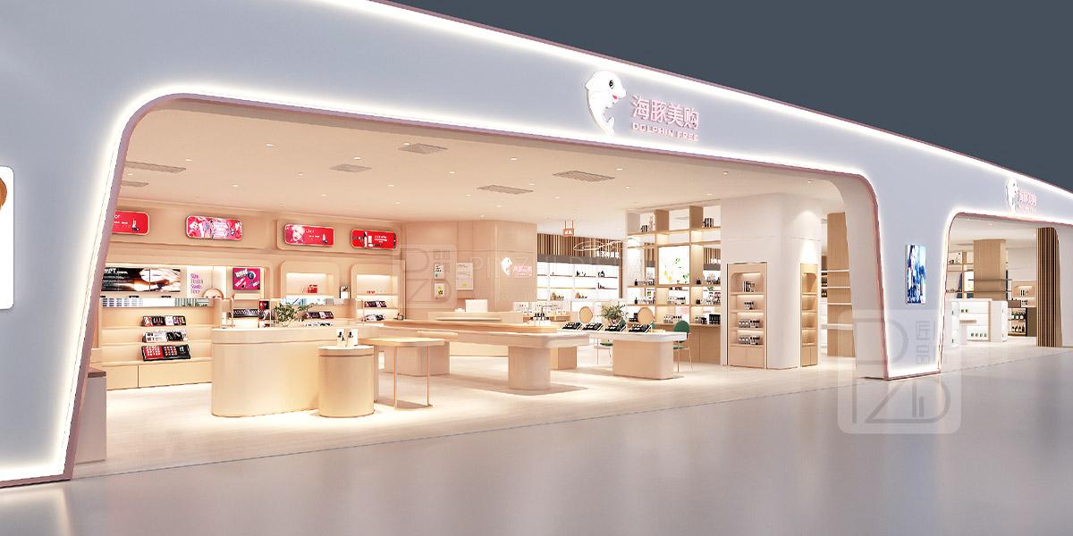 Cosmetic shop interior design
