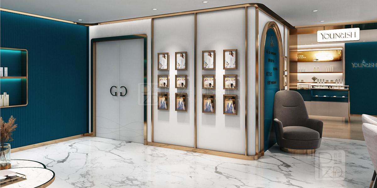 Luxury skincare shop interior design